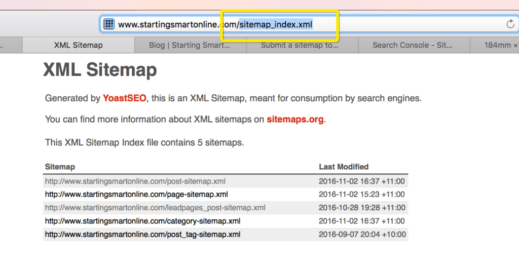 submit your sitemap to google bing yahoo starting smart online