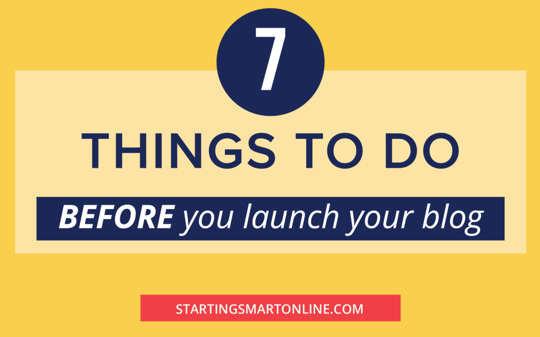 7 things to do before the